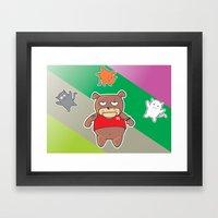 Hit The Cat.... Framed Art Print