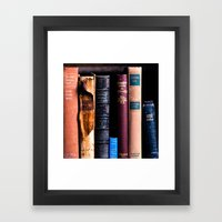 Vintage Books Framed Art Print