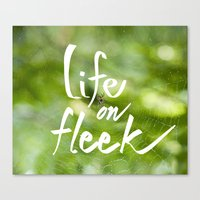 Life on Fleek - Spider Web in Woods Canvas Print