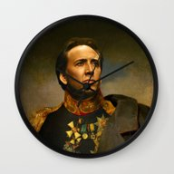 Wall Clock featuring Nicolas Cage - Replacefa… by Replaceface