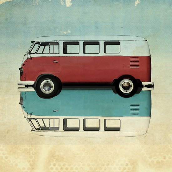 Kombi Love Art Print