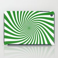 Swirl (Forest Green/White) iPad Case