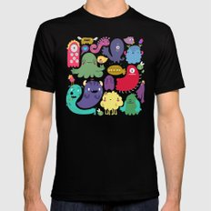 Colorful creatures Black Mens Fitted Tee SMALL