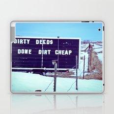 Dirty Deeds Laptop & iPad Skin