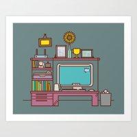 Home Is Where Your Compu… Art Print