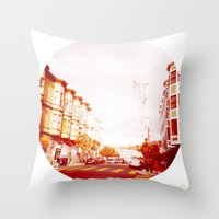 Near The South End of Folsom, San Francisco Throw Pillow