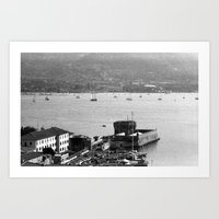 Portoferraio from above Art Print