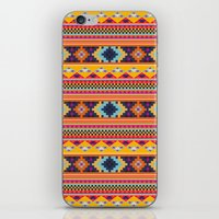 Navajo blanket pattern- orange iPhone & iPod Skin