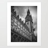 Hamburg Black and White Art Print