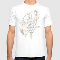 H A I R  Mens Fitted Tee White SMALL