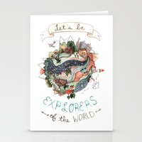 Let's Be Explorers  Stationery Cards