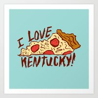 I LOVE KENTUCKY! Art Print