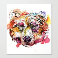 Vivid Grizzly Canvas Print
