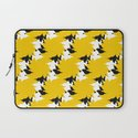Abstract Pattern - Yellow & BW Laptop Sleeve