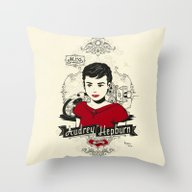 Miss Audrey Hepburn Throw Pillow