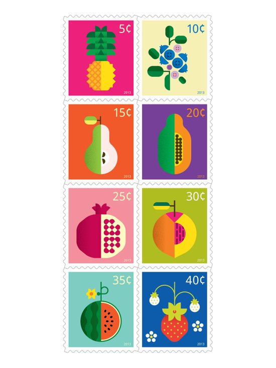 Fruit Stamps Art Print