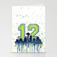 Seahawks 12th Man Fan Ar… Stationery Cards