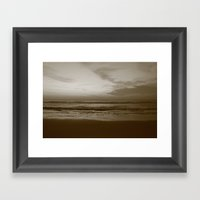 Lost Dark Sea Framed Art Print