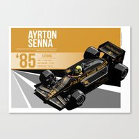 Ayrton Senna - 1985 Estoril Canvas Print
