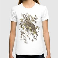 owl T-shirts featuring Great Horned Owl by Teagan White