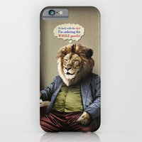 iPhone & iPod Case featuring Hungry Lion by Peter Gross