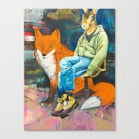 mister lamp and the red light Canvas Print