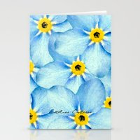 Stationery Card featuring Forget Me Not by SalbyN