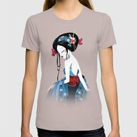 Geisha la blanche Womens Fitted Tee Cinder SMALL