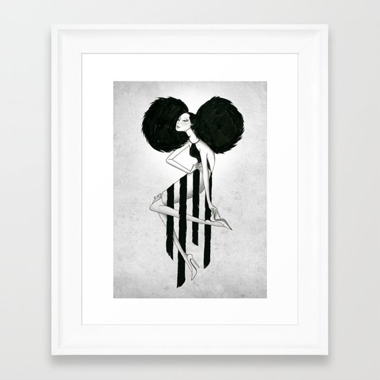 Killer Pose Framed Art Print