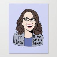 Liz Lemon Is My Spirit A… Canvas Print