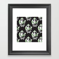 Wolf Skull Pattern Framed Art Print