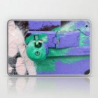Purple And Green Lock Laptop & iPad Skin