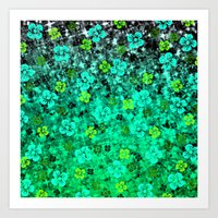LUCK OF THE IRISH Colorf… Art Print