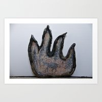 Devil In Glass Art Print