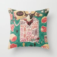 'Cows are REALLY Meaty!' Throw Pillow
