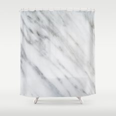 Carrara Italian Marble Shower Curtain