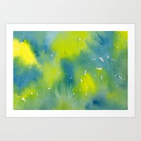 Vibrant sunshine tree top Art Print