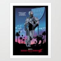 Beverly Hills Robocop 2 Art Print