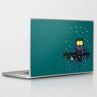 Owl In The Snow Laptop & iPad Skin
