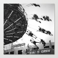 At The Fair: The Swings Canvas Print
