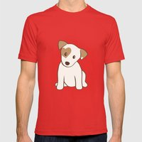 Heart Spotted Jack Russe… Mens Fitted Tee Red SMALL