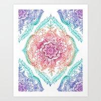 Indian Ink - Rainbow version Art Print