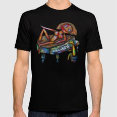 Every morning Jack plays the piano! Mens Fitted Tee Black SMALL