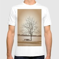Winter Silence Mens Fitted Tee White SMALL