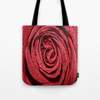 Raindrop Rose Tote Bag