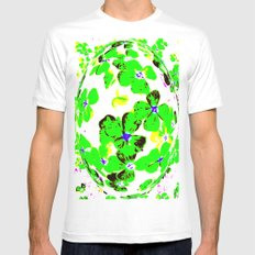 Floral Easter Egg SMALL White Mens Fitted Tee