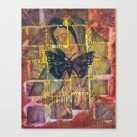 Mother Mary And The Moth Canvas Print