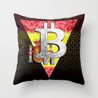 Bitcoin Spain Throw Pillow