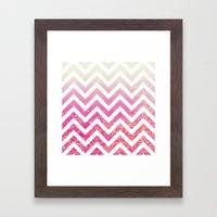 Pixie Dust Chevron Framed Art Print