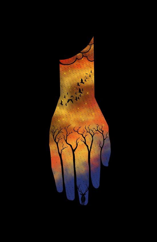Natural hand Art Print